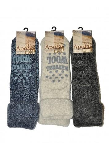 Ypatingai šiltos vyriškos kojinės su neslidžiais padukais