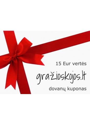 15 eurų vertės dovanų kuponas