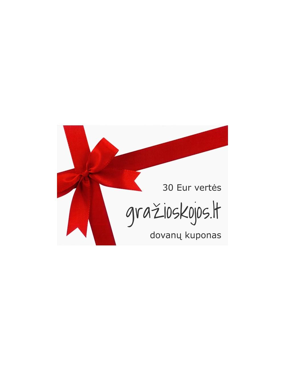 30 Eur vertės dovanų kuponas