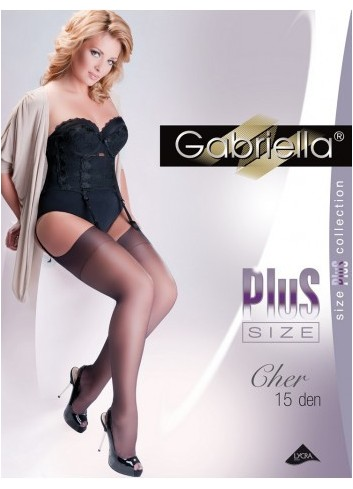 Kojinės GABRIELLA Plus Size Calze Cher